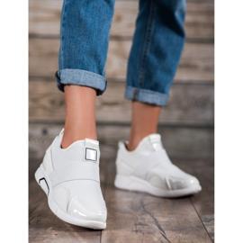 Ideal Shoes Wsuwane Trampki Fashion białe 2