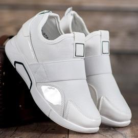 Ideal Shoes Wsuwane Trampki Fashion białe 1