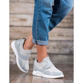 Ideal Shoes Wsuwane Trampki Fashion szare 3