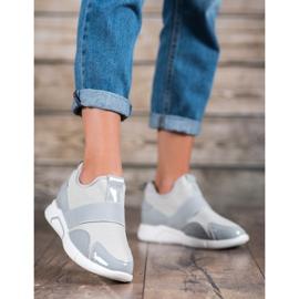 Ideal Shoes Wsuwane Trampki Fashion szare 4