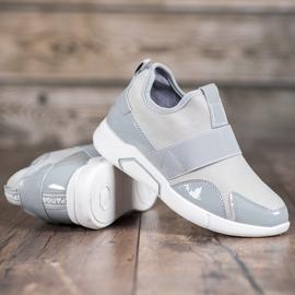 Ideal Shoes Wsuwane Trampki Fashion szare 1