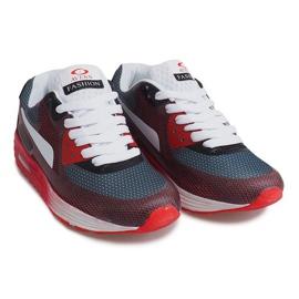 Sportowe Trampki B49-6 Czerwony czerwone wielokolorowe 4