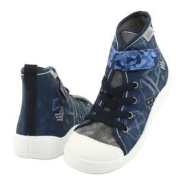 Befado obuwie dziecięce 268Y071 niebieskie szare 4