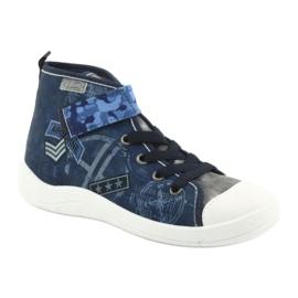 Befado obuwie dziecięce 268Y071 niebieskie szare 2