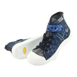 Befado obuwie dziecięce 268Y071 niebieskie szare 5
