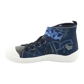 Befado obuwie dziecięce 268Y071 niebieskie szare 3