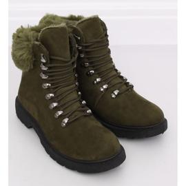 Buty traperki damskie zielone Y260-9 Green 3