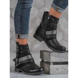 Bestelle Biker Boots czarne 1