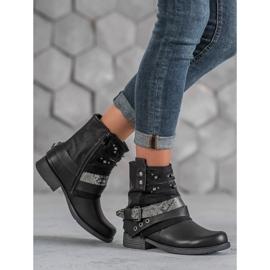 Bestelle Biker Boots czarne 4