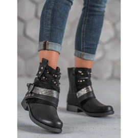 Bestelle Biker Boots czarne 5