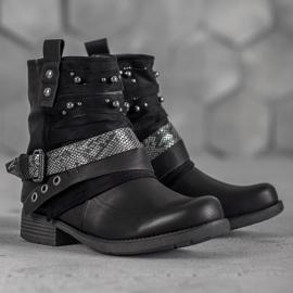Bestelle Biker Boots czarne 2