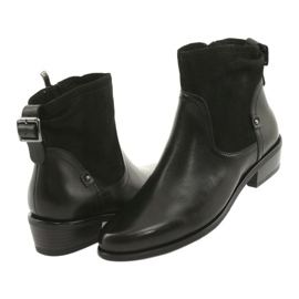 Botki damskie Caprice 25335 czarny czarne 3