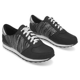 Sneakers Sportowe Trampki Y617 Czarny czarne szare 1