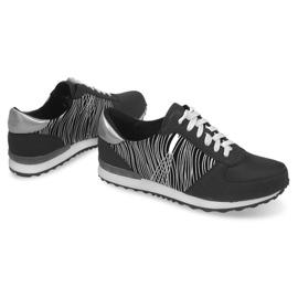 Sneakers Sportowe Trampki Y617 Czarny czarne szare 2