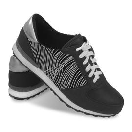 Sneakers Sportowe Trampki Y617 Czarny czarne szare 3
