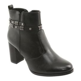 Botki damskie Sergio Leone 517 czarne 1