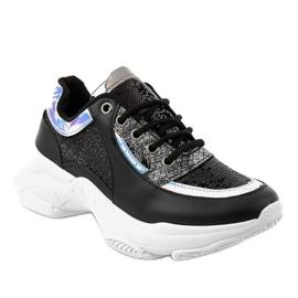 Czarne damskie obuwie sportowe W-3117 1