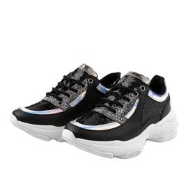 Czarne damskie obuwie sportowe W-3117 2