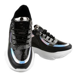 Czarne damskie obuwie sportowe W-3117 3
