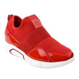 Czerwone damskie obuwie sportowe X-9761 1
