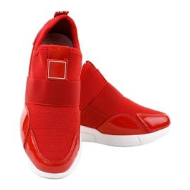 Czerwone damskie obuwie sportowe X-9761 3