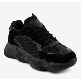 Czarne damskie obuwie sportowe ZF-54 1