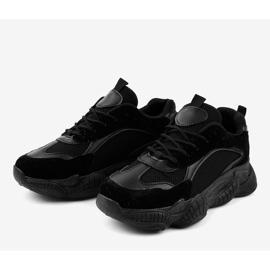 Czarne damskie obuwie sportowe ZF-54 3