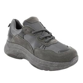 Szare modne damskie obuwie sportowe R267 1