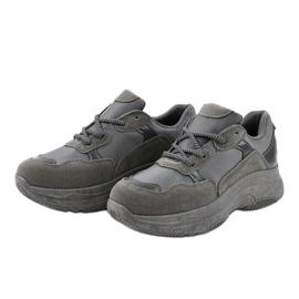 Szare modne damskie obuwie sportowe R267 2