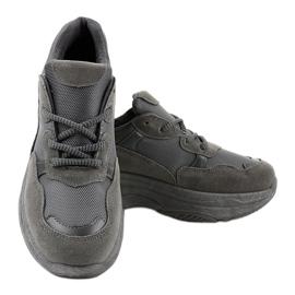 Szare modne damskie obuwie sportowe R267 3