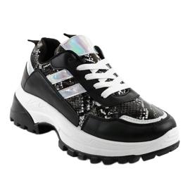 Czarne stylowe obuwie sportowe 690051 1