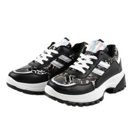 Czarne stylowe obuwie sportowe 690051 2