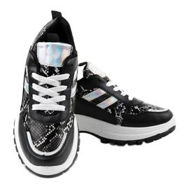 Czarne stylowe obuwie sportowe 690051 3