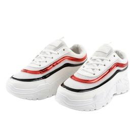 Białe damskie buciki sportowe AA8 wielokolorowe 2