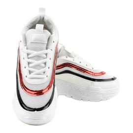 Białe damskie buciki sportowe AA8 wielokolorowe 3