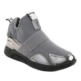 Szare obuwie sportowe z gumką SJ1836-3 1