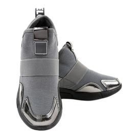 Szare obuwie sportowe z gumką SJ1836-3 3