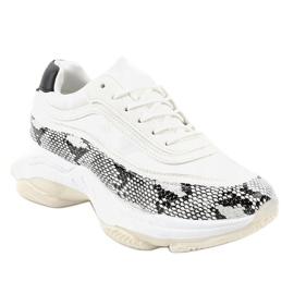 Białe obuwie sportowe snake YY-02 wielokolorowe 1