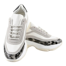 Szare obuwie sportowe snake YY-02 2
