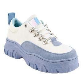Biało-niebieskie damskie obuwie sportowe PF5329 białe 1
