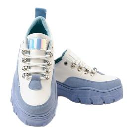 Biało-niebieskie damskie obuwie sportowe PF5329 białe 3