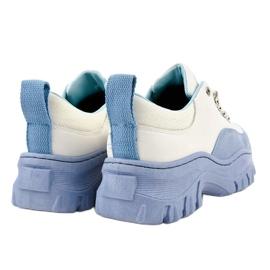 Biało-niebieskie damskie obuwie sportowe PF5329 białe 4
