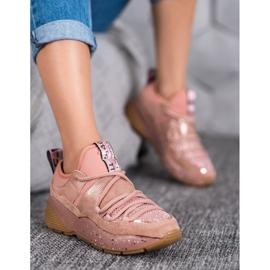 SHELOVET Wsuwane Buty Sportowe różowe 3