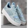 Ideal Shoes Sneakersy Z Brokatem niebieskie 4