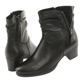 Caprice czarne botki na obcasie 25347 5