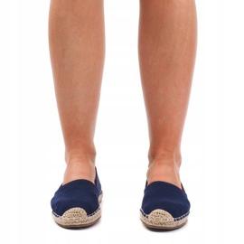 Sandały Espadryle F169-6 Niebieski niebieskie 1