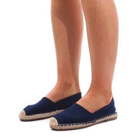 Sandały Espadryle F169-6 Niebieski niebieskie 2