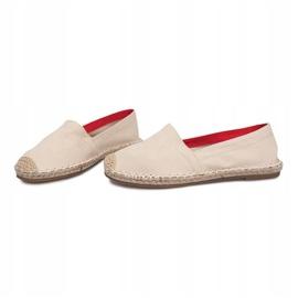 Sandały Espadryle F169-6 Beżowy 1