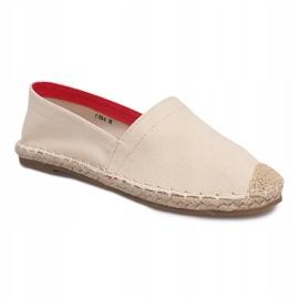 Sandały Espadryle F169-6 Beżowy 2