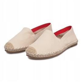 Sandały Espadryle F169-6 Beżowy 3